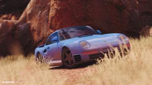 Porsche 959 racing blue gt