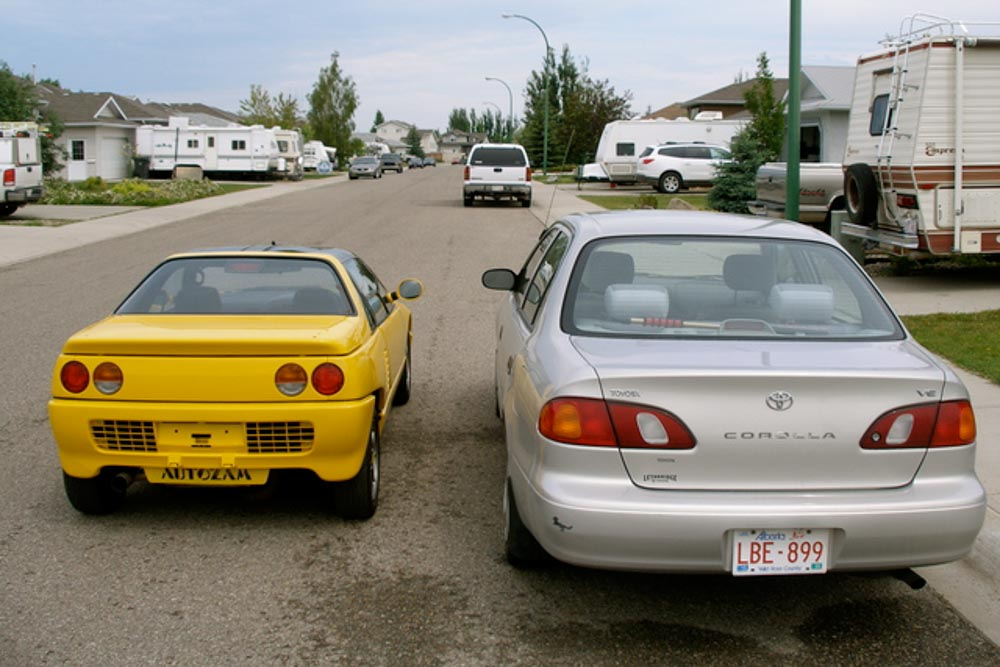 compare size of AZ-1 to Corolla VE