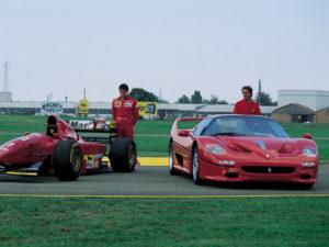 F50 and Ferrari 641 F1