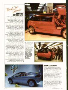 Bertone Genesis magazine