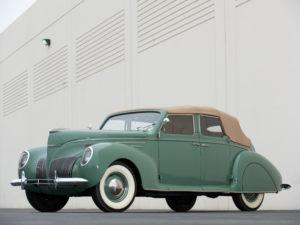 1939 Lincoln Zephyr Convertible Sedan (96H-74) 302 made