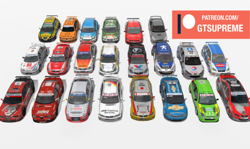 Vauxhall Vectra, VW Scirocco WTCC STCC pack BIG update! In total 21 Touring cars